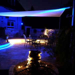 Garten blau