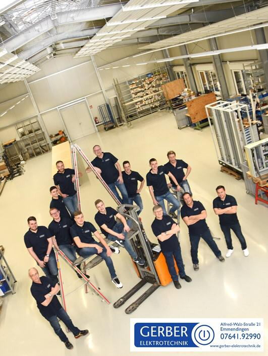 Teamfoto Halle Gerber Elektrotechnik